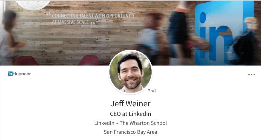 One Of The Best LinkedIn Profiles:  Jeff Weiner
